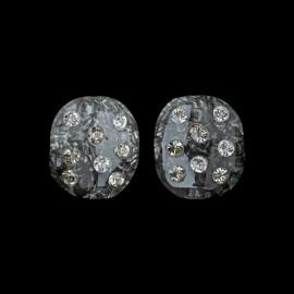 Monarch Black Oval Earrings