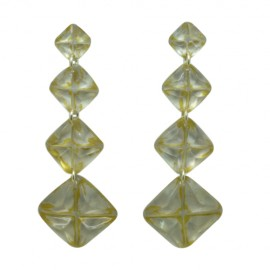 FKR Segment Nacre Earrings