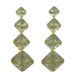 FKR Segment Nacre Earrings
