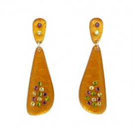 FaKaRa Swing Orange Earrings