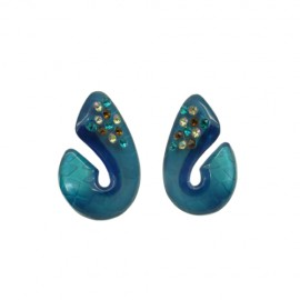 FaKaRa Swing Turquoise Shell Earrings