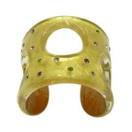 FaKaRa Swing Yellow Gold Cuff Bracelet