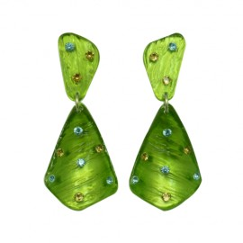 FaKaRa Ecorce Green Earrings