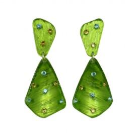 FaKaRa Ecorce Green Earrings