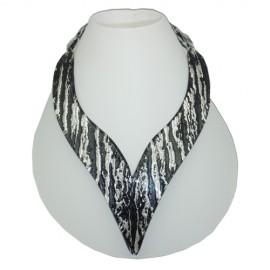 FaKaRa Ledja Black Silver Arrow Necklace