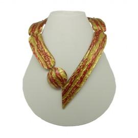 FaKaRa Ledja Gold Fire Arrow Necklace