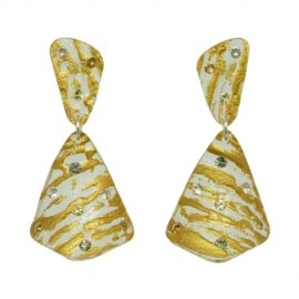 FaKaRa Liege Pink Gold Earrings