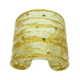FaKaRa Liege Pink Gold Large Cuff Bracelet
