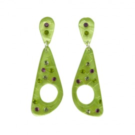 FaKaRa Swing Green Earrings