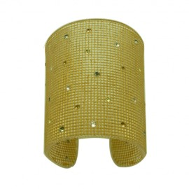 FaKaRa Trame Pink Gold Large Cuff Bracelet