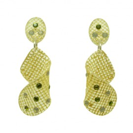 FaKaRA Trame Swirly Yellow Gold Earrings