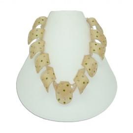 FaKaRA Trame Swirly Yellow Gold Necklace