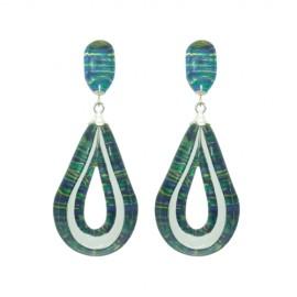 FKR Arabesque Green Earrings