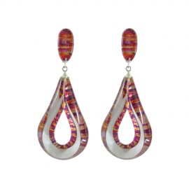 FKR Arabesque Red Earrings