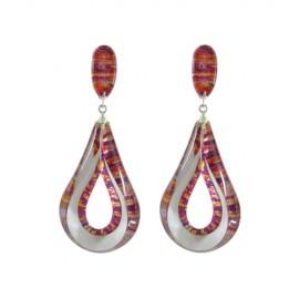 FKR Arabesque Red Earrings
