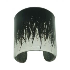 FKR Lacquer Black Cleopatra Large Cuff Bracelet