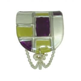 FKR Lacquer Mosaic PIstachio Half Cuff Bracelet