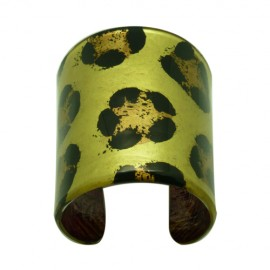 FKR Lacquer Panther Large Cuff Bracelet