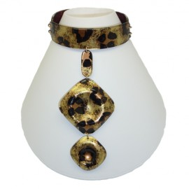 FKR Lacquer Panther Necklace