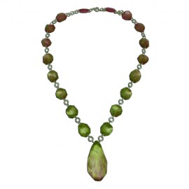 FKR Roche Green Pink Miami Long Necklace