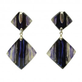 FKR Rodez Carré d'Art Double Square Earrings