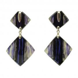 FKR Rodez Carré d'Art Double Square Earrings
