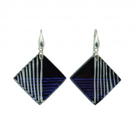 FKR Rodez Carré d'Art Square Earrings