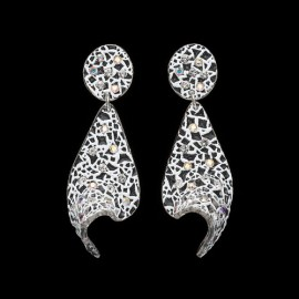 Lace White Voile Earrings