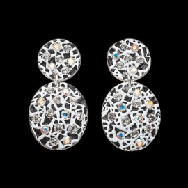 Lace White Carapace Earrings