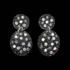 Lace Black Carapace Earrings