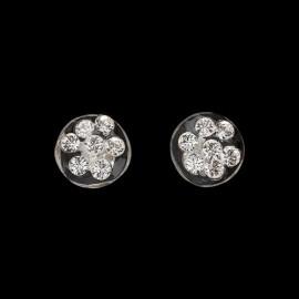 Nevada Transparent Medallion Earrings