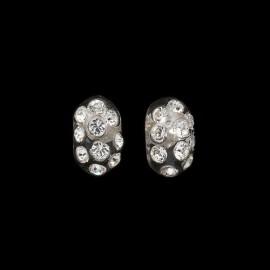 Nevada Transparent Domino Earrings