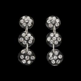 Nevada Transparent Triple Mini Medallion Earrings