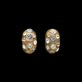 Nevada Yellow Gold Colored Domino Earrings