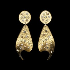 Nevada Yellow Gold Colored Voile Earrings
