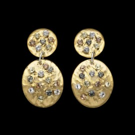 Nevada Yellow Gold Colored Carapace Earrings