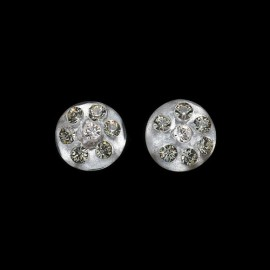 Nevada Silver Colored Medallion Earrings