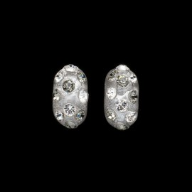 Nevada Silver Colored Domino Earrings