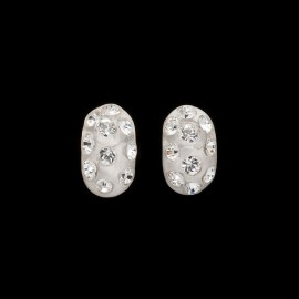 Nevada White Domino Earrings