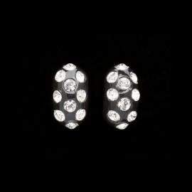 Nevada Black Domino Earrings