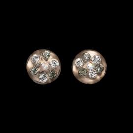 Nevada Honey Colored Medallion Earrings