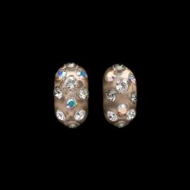 Nevada Honey Colored Domino Earrings