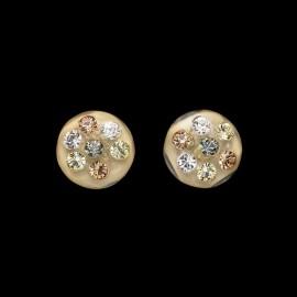 Nevada Corn Yellow Medallion Earrings