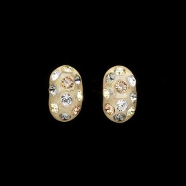 Nevada Corn Yellow Domino Earrings