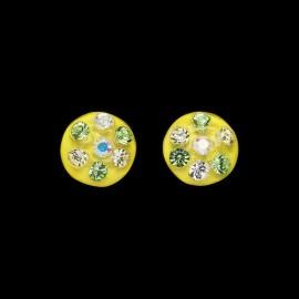 Nevada Yellow Hawaii Medallion Earrings