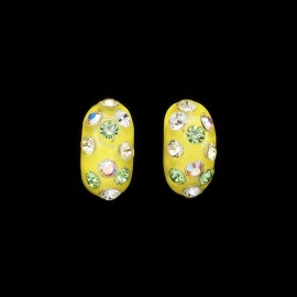 Nevada Yellow Hawaii Domino Earrings