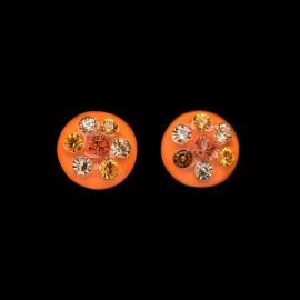 Nevada Orange Medallion Earrings