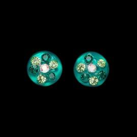 Nevada Green Hawaii Medallion Earrings