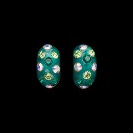 Nevada Green Hawaii Domino Earrings