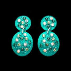 Nevada Green Hawaii Carapace Earrings